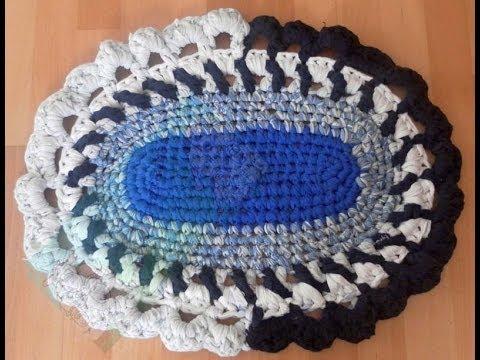 Alfombra trapillo ovalada parte 3 de 3 youtube - Como hacer alfombras de trapillo redondas ...