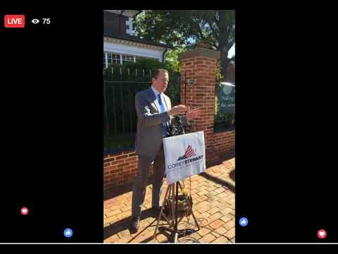 Corey Stewart On Ed Gillespie Not Campaigning With Him, Alexandria, VA 10:31:17