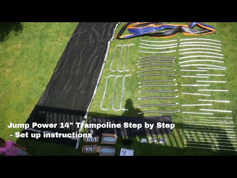 How to set up a trampoline - Jump power