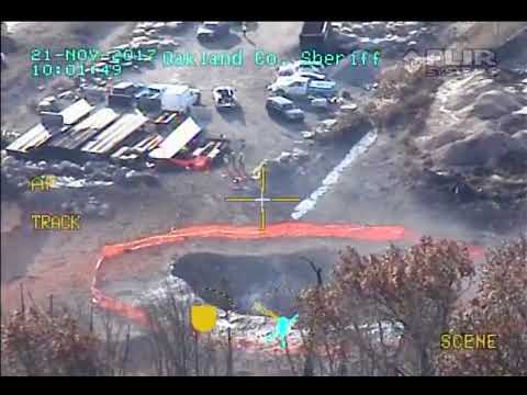 Helicopter view of gas line explosion site in Metro Detroit