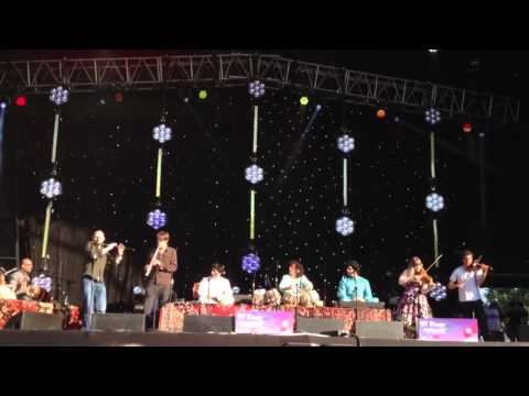 Ustaad Zakhir Hussain and Celtic musicians fusion music performance