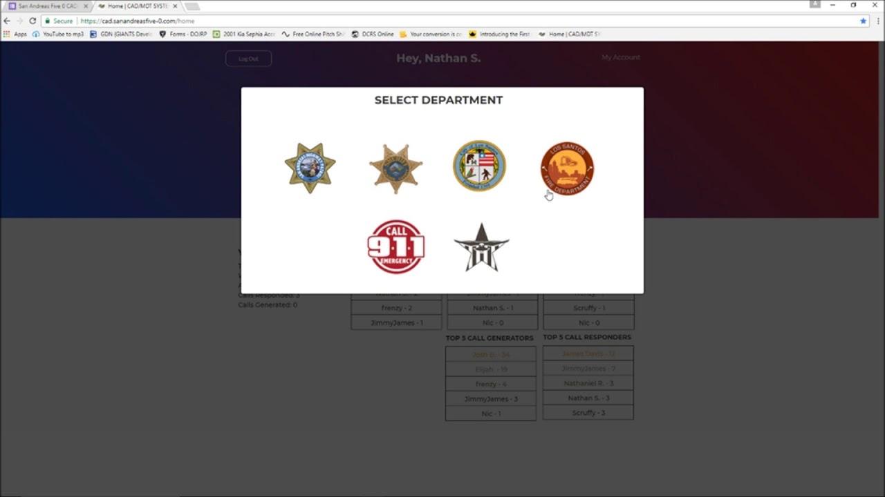 GTA V RP SAF0: CAD SYSTEM