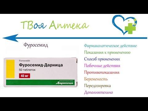 Фуросемид таблетки - показания (видео инструкция) описание, отзывы
