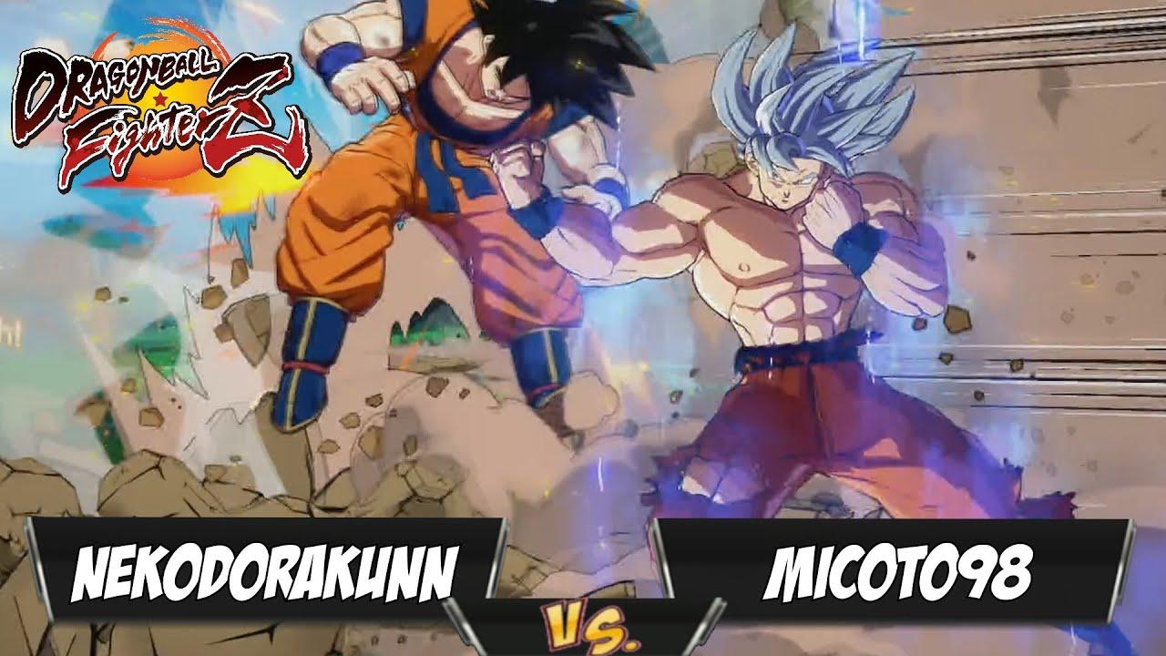 NekoDoraKunn(Beerus/UI Goku/Base Goku) Fights Micoto98(Teen Gohan/Tien/Base Goku)[DBFZ PS4]