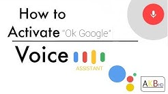 How to enable Ok Google Voice Assistant : Google Voice Search activation on android