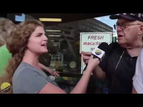 Babysitter - Protester Tells Female Reporter He Could Rape Her Because He Has Rights