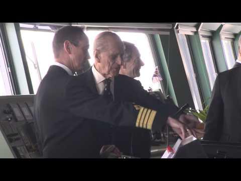 HRH The Duke of Edinburgh visiting Queen Mary 2 on her 10th Anniversary