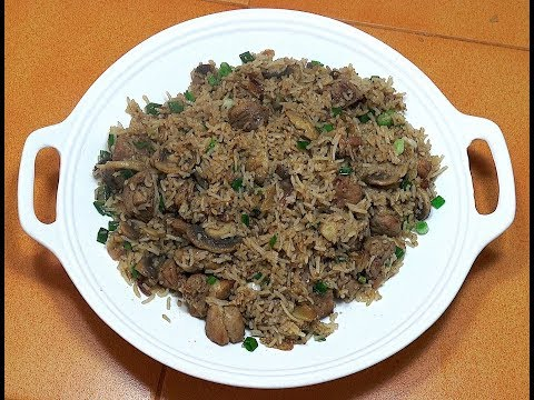 Pork Fried Rice - Pork & Mushroom Rice - Chinese Pork Rice - How to make fried rice