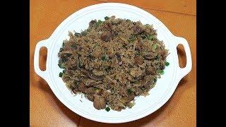Pork Fried Rice - Pork & Mushroom Rice - Chinese Pork Rice - How to make fried rice