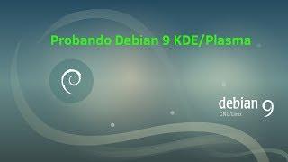un vistazo rpido a Debian 9 live-KDE/Plasma en VMwarePlayer