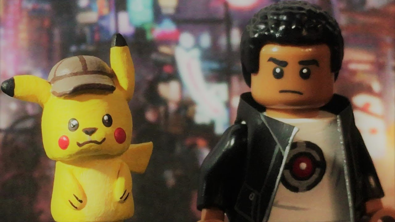 Lego Detective Pikachu Pikachu And Tim Goodman Youtube