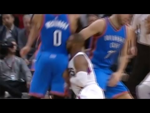 Russell Westbrook COLLISION with Chris Paul Causes Injury, CP3 BEATS UP a Chair