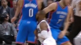Russell Westbrook COLLISION with Chris Paul C...