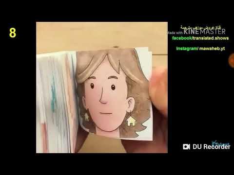 Phim hoạt hình bằng giấy tự vẽ