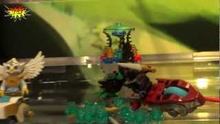 LEGO Speedorz Chima 70112 Croc Chomp 70114 Sky Joust Preview 2013 NY Toy Fair
