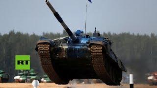 Día 2: Impresionante 'batalla' de tanques en el biatlón de los Juegos Militares Internacionales
