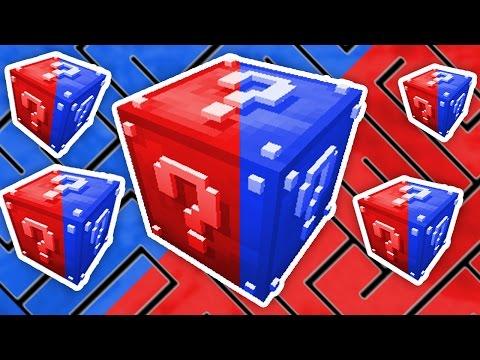Minecraft 1v1v1v1 RED & BLUE LUCKY BLOCK MAZE! | w/ The Pack