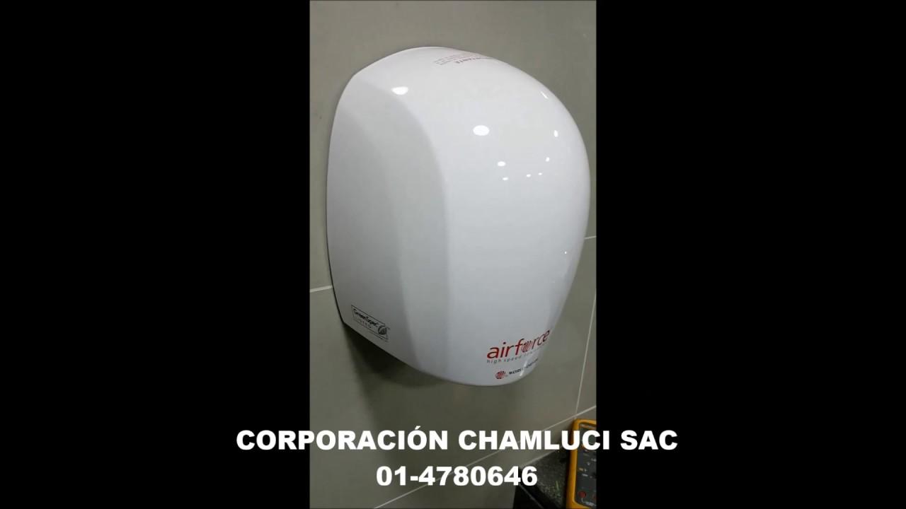 Secador de manos airforce marca world dryer youtube - Secador de manos ...