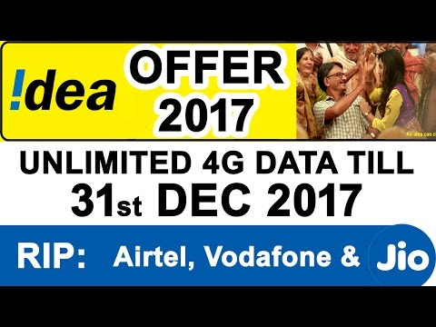 IDEA Launches 2017 Bonanza Offer for Customers who switch to IDEA 4G - #Jio Effect