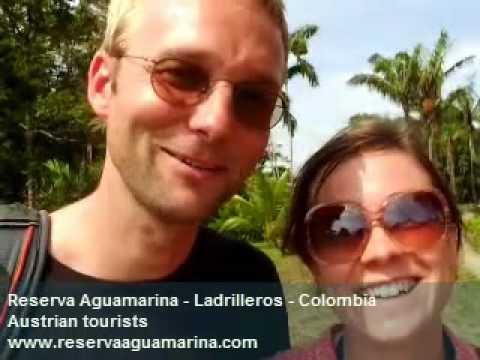 Austrian tourist visit Colombia: Reserva Aguamarina - Ladrilleros - Pacific Ocean - Cauca Valley.