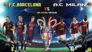 SpeedArt #1 Wallpaper HD F C Barcelona vs A.C.Milan