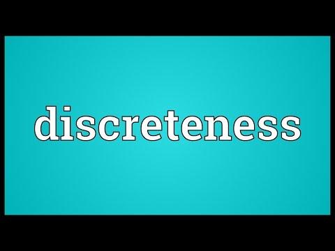 Header of discreteness