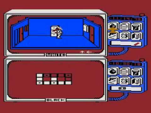 Spy vs. Spy Atari 8-bit gameplay