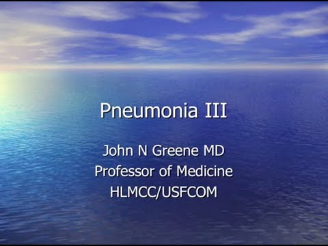 Pneumonia Patterns -- John Greene, MD