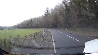 Dashcam Shows Dramatic Moment Car Loses Control and Flips Over