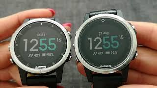 garmin Fenix 5s plus vs. 5s kleiner erster Überblick