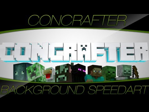 Speedart // Concrafter Background // by KOA