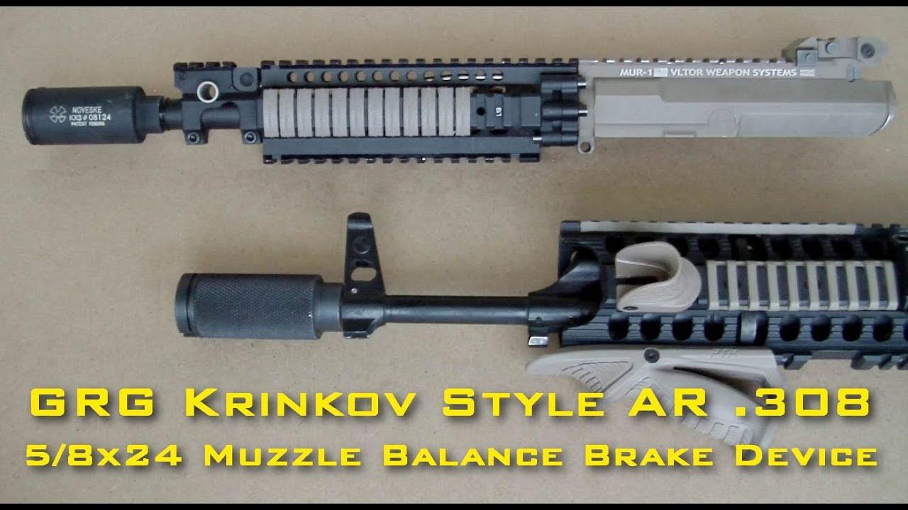 Установка Krinkov Style  308 5/8x24 Muzzle Brake на AKM -14mm  Нужна помощь