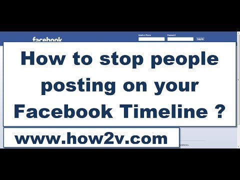How To Stop(block) People(friends) Posting On Your Facebook Timeline 2014 ?
