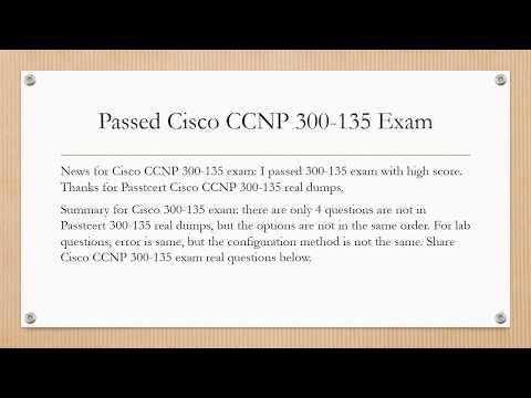 Passed Cisco CCNP 300-135 Exam, share Cisco CCNP 300-135 real Q&As