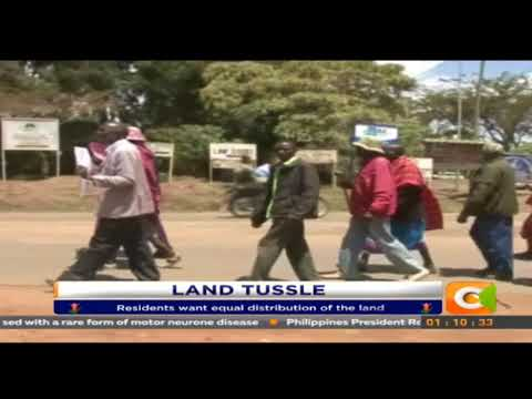 Residents of Loosuk Protest the ongoing sub division of the Tinga group ranch.