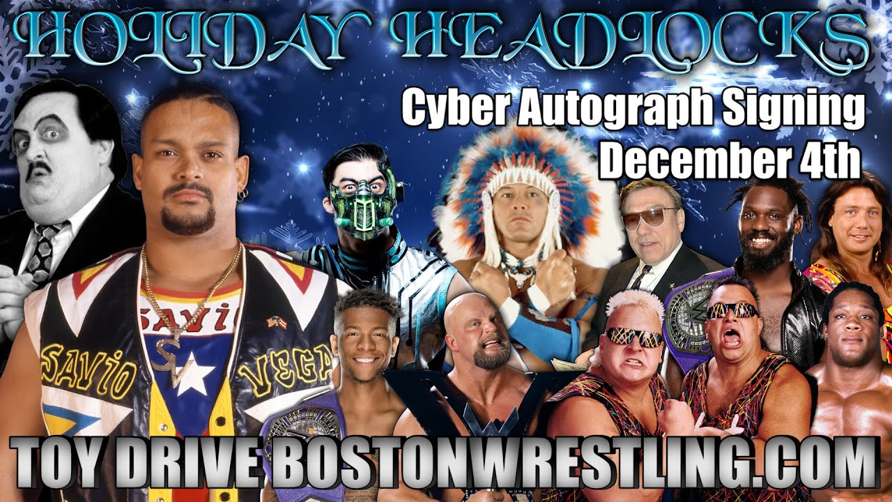 Savio Vega Joins Paul Bearer Toy Drive Cyber Fanfest Friday, December 4th!