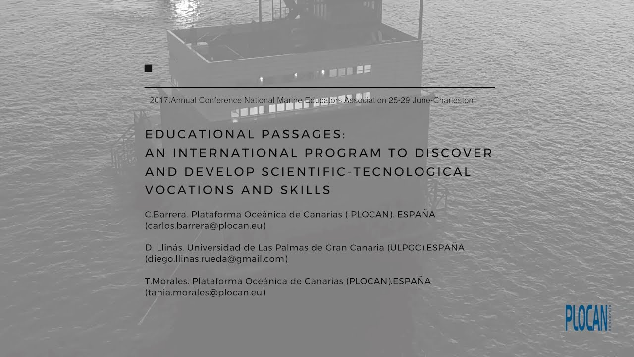 Educational Passages - National Marine Educators Annual Conference -  25-29/06/2017