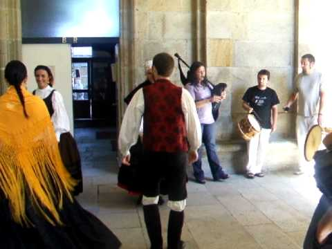 Música e baile tradicional galego na Universidade de Santiago de Compostela (29.07.2010)