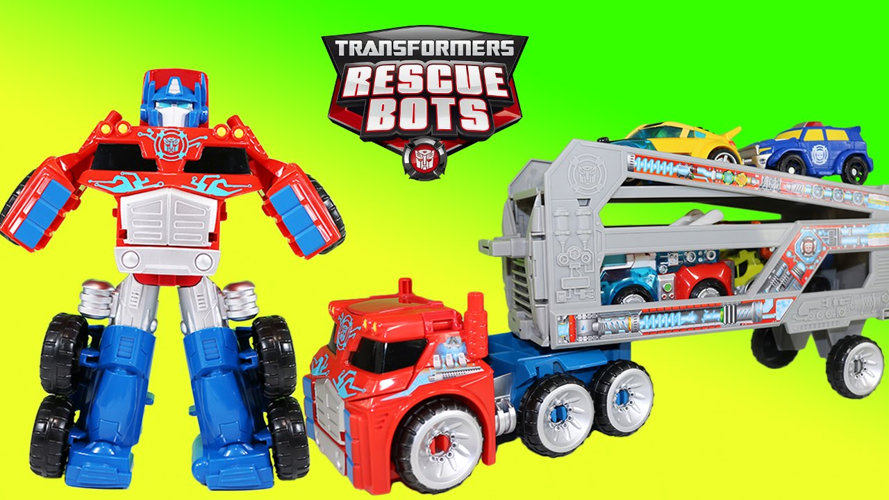 Transformers Playskool Heroes Rescue Bots OPTIMUS PRIME RESCUE TRAILER Toy Hot