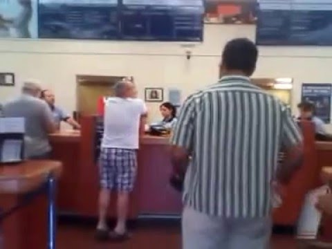 Give me my box back! - Angry man at the post office