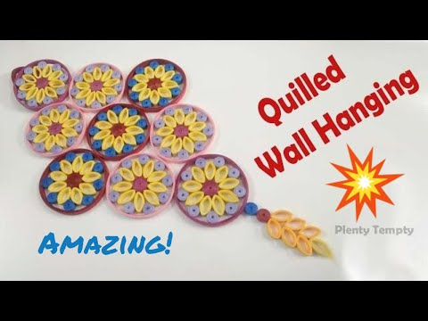 Paper quilling wall hangings/ 3d quilling art/ How to make quilling wall hanging/ PlentyTempty
