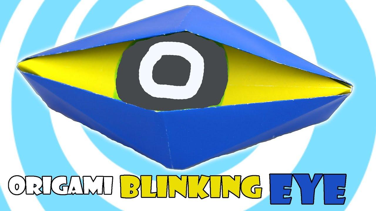 Diy origami blinking eye tutorial action origami youtube jeuxipadfo Choice Image