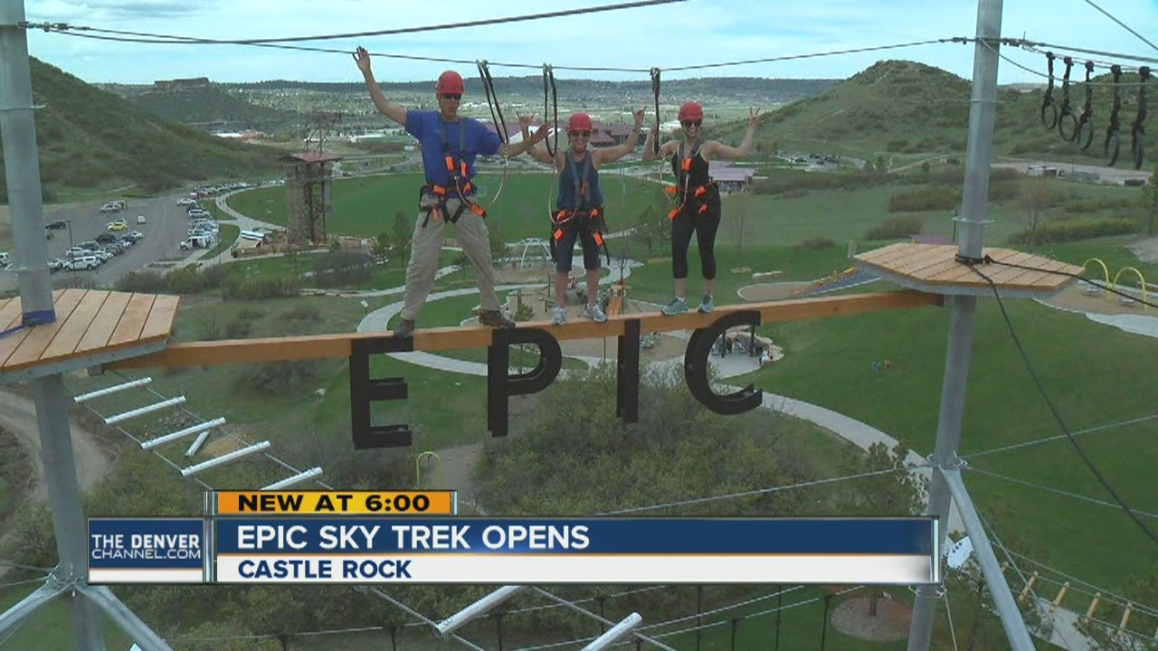 Epic Sky Trek course in Castle Rock opens
