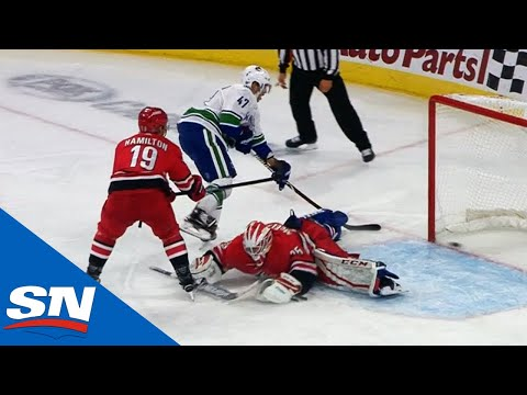 Sven Baertschi Makes Gorgeous Fake, Slides Goal Past Curtis McElhinney