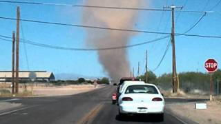 Watch this extreme dust devil! Queen Creek, AZ