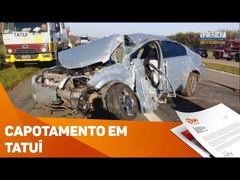 Capotamento em Tatuí - TV SOROCABA/SBT