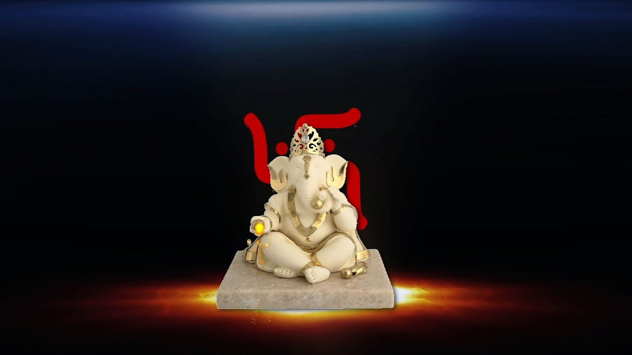 Lord Ganesha Wedding Background Animated Video Dmx Hd Bg 162 Youtube