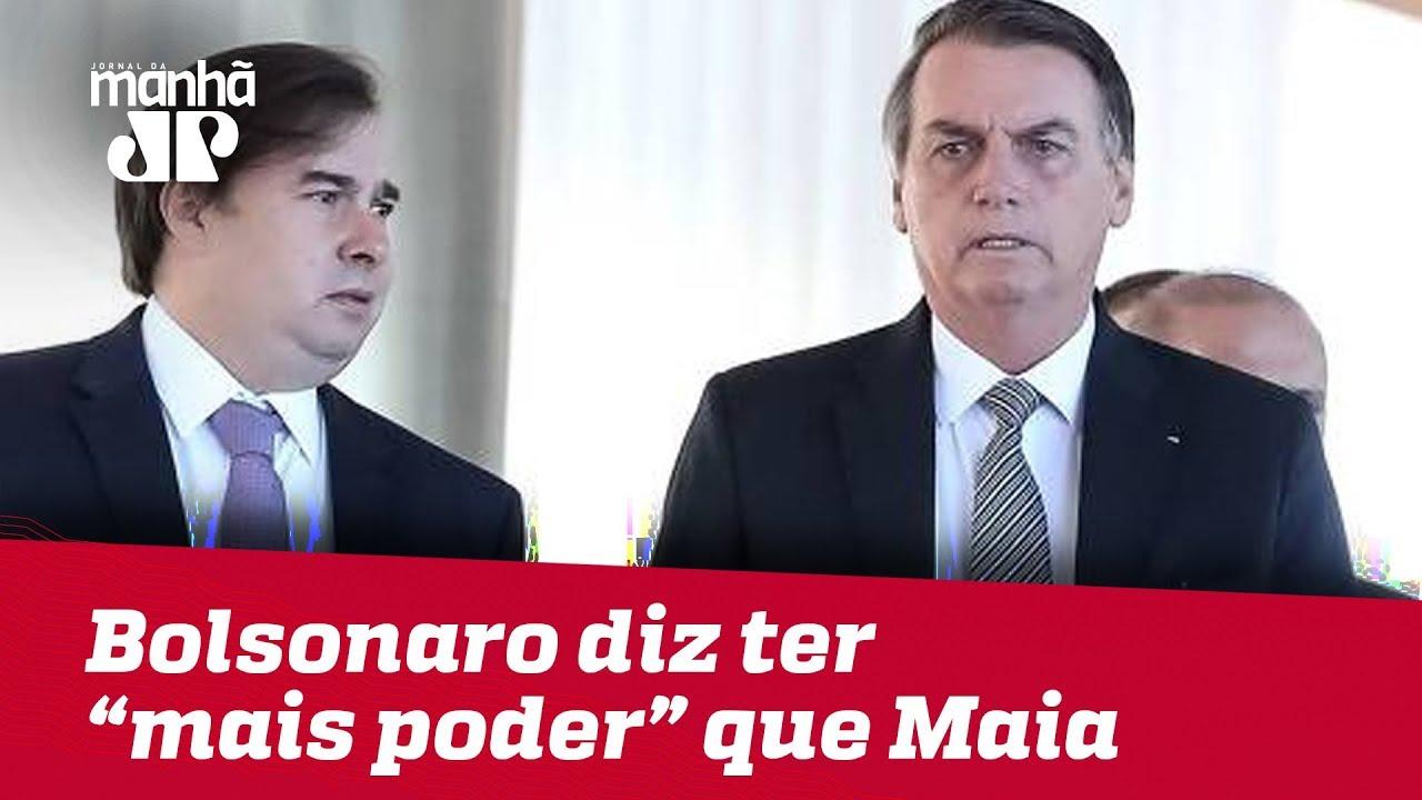 Em tom de brincadeira, Bolsonaro diz que,