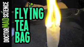 Kids Science - Flying Tea Bag - Doctor Mad Science does experiments