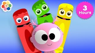 Learn Colors & Music for Babies | 3 Hours Compilation of Color Crew + GooGoo Gaga | BabyFirst TV